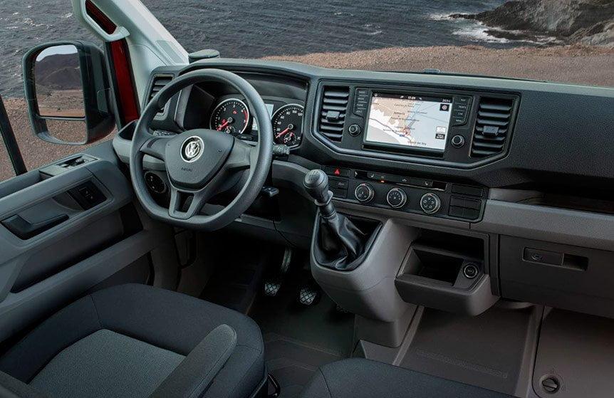 Interior del nuevo furgón Volkswagen Crafter