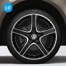 Llantas Dakar color negro mecanizado Volkswagen