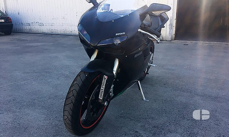 Ducati 848 Superbike Black 125 CV frontal