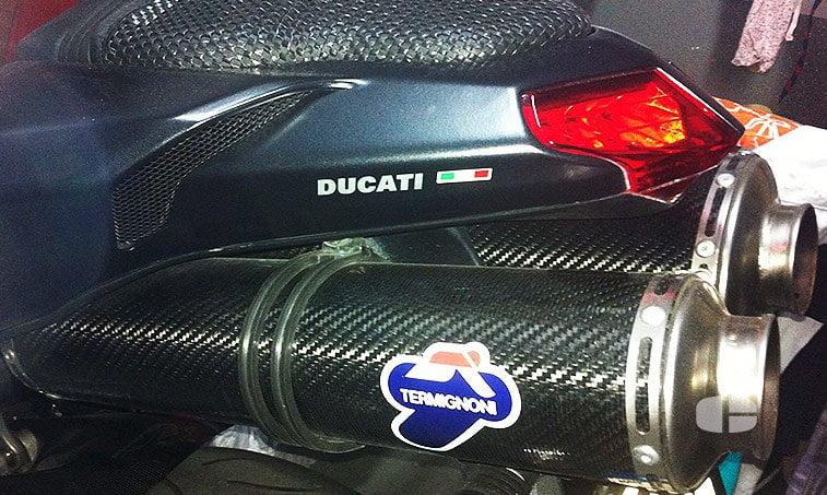 Ducati 848 Superbike Black 125 CV tubo escape