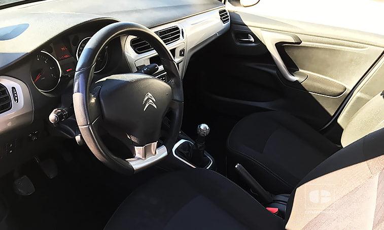 interior Citroën C Elysée 1.6 VTi 115 CV GLP