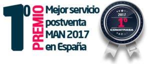 Premio Mejor Servicio Post Venta MAN 2017 en España