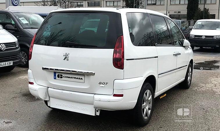 Peugeot 807 2.0 HDI 120 CV adaptado discapacitados trasera
