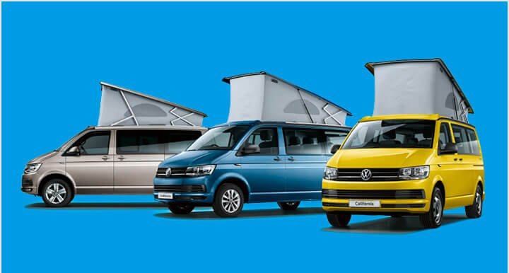 Renting Volkswagen California Beach