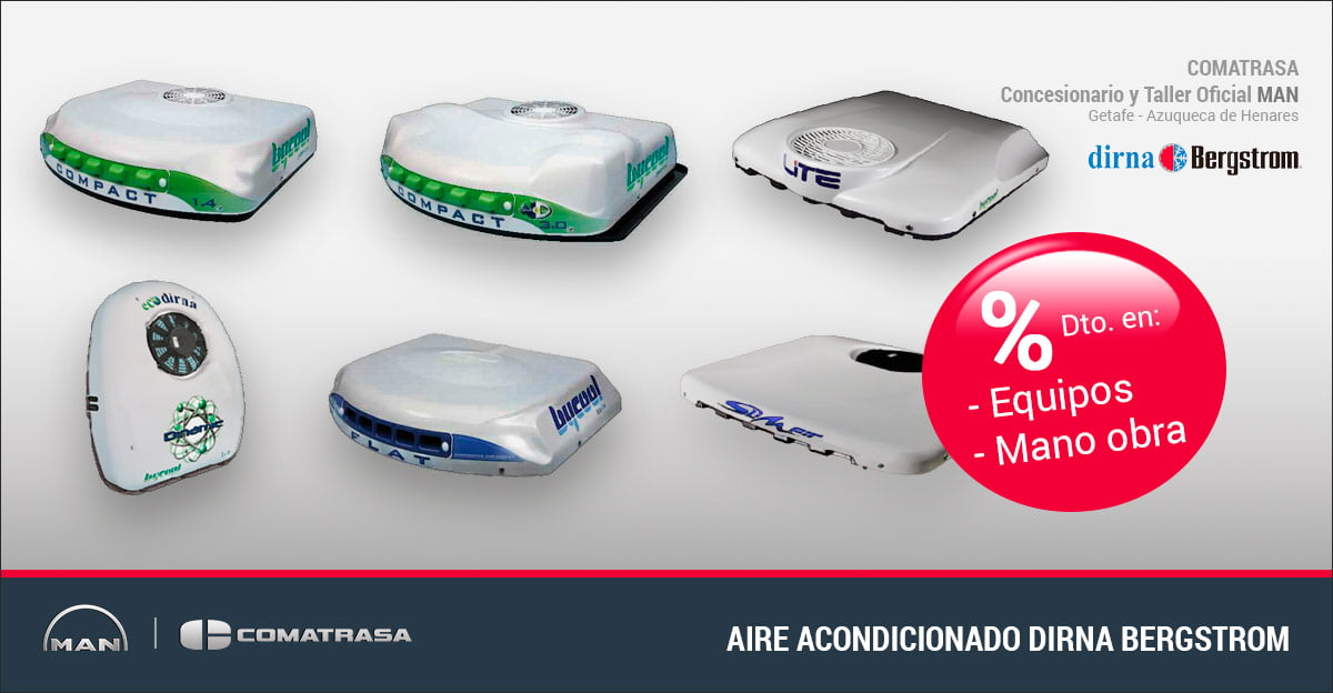 Aire acondicionado Dirna Dinamic, Flat, Bycool, Compact y Slimfit - MAN Truck