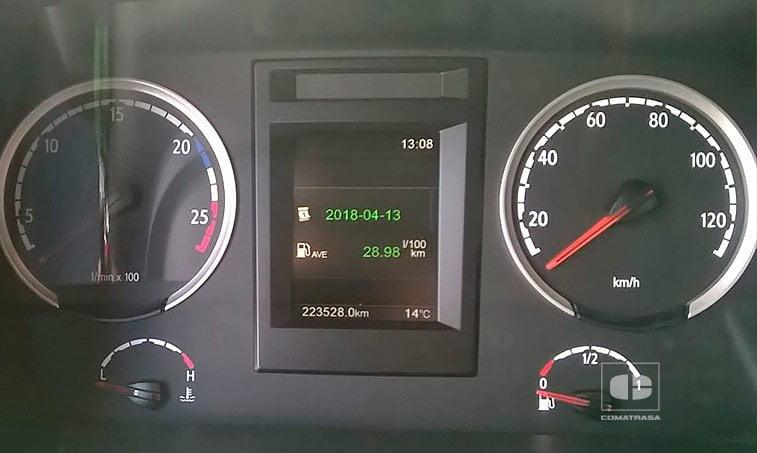 kilómetros Scania R450 y remolque Tauliner (2016)