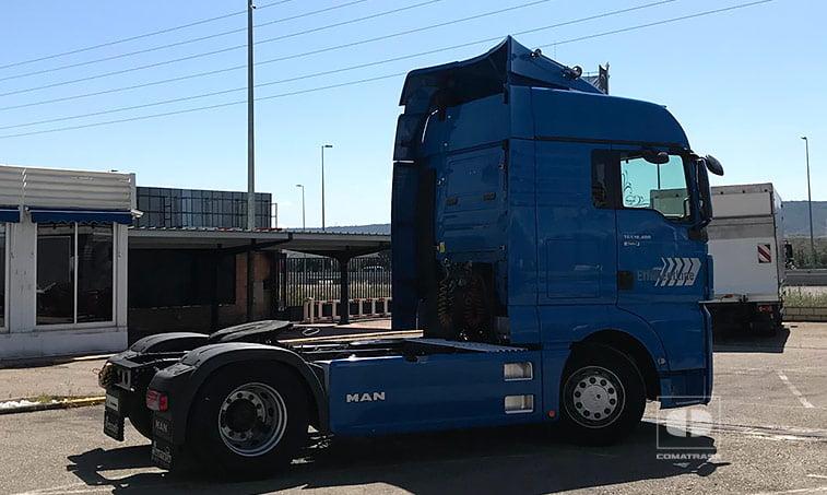 lateral derecho MAN TGX 18480 4x2 BLS Efficientline Tractora 2011