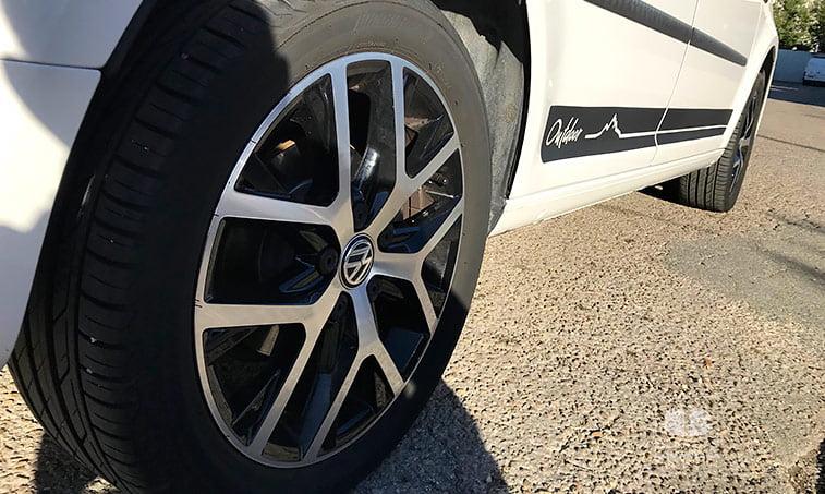 llantas VW Caddy Outdoor 2.0 TDI 102 CV Mixto