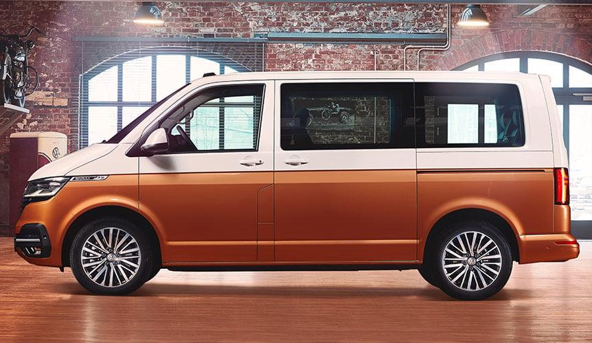 Facelift lateral Volkswagen Multivan