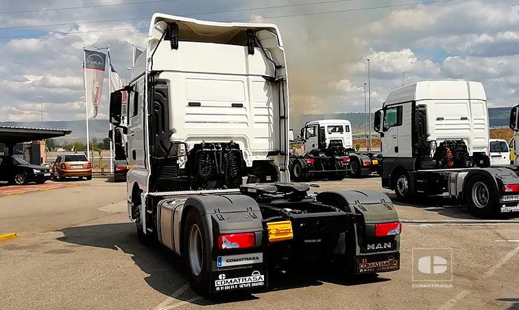 trasera MAN TGX 18480 4X2 BLS Efficient Line Cabeza Tractora
