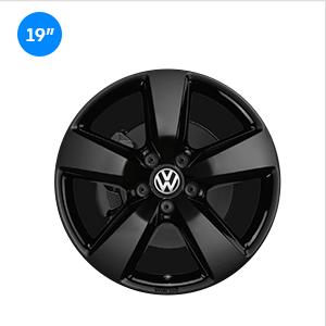 Llantas Aragonit Volkswagen color negro
