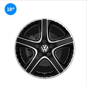 Llantas Dakar Volkswagen color negro