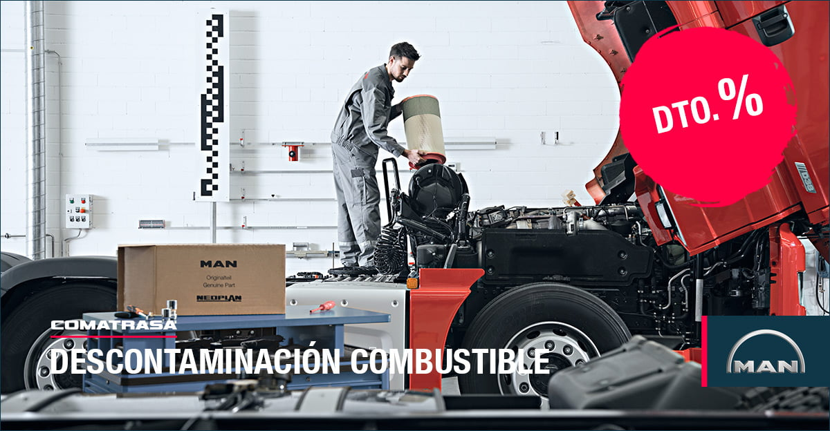 Descontaminación combustible vehículos MAN Truck