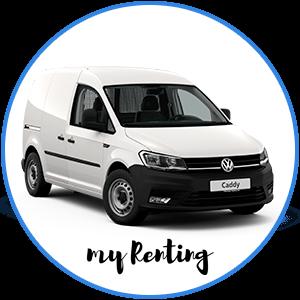 Renting Volkswagen Caddy furgón