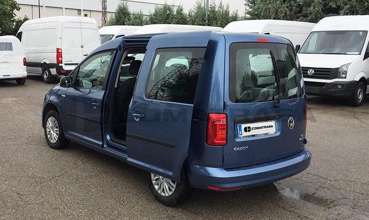 VW Caddy Trendline Azul puerta lateral