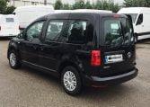 VW Caddy Trendline Negro vista trasera