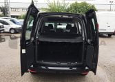 VW Caddy Trendline Negro puertas traseras